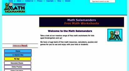 math-salamanders.com - math worksheets education from the math salamanders