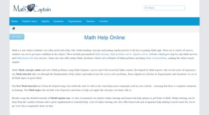 mathcaptain.com -