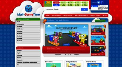 mathgametime.com - math game time - free math games & worksheets for kids & teachers