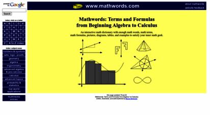 mathwords.com - mathwords
