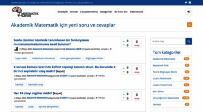matkafasi.com - akademik matematik için yeni soru ve cevaplar - matematik kafası