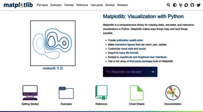 matplotlib.org - matplotlib: python plotting — matplotlib 3.3.1 docmentation