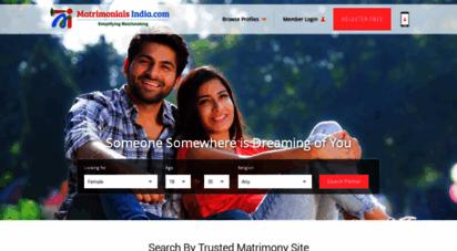 matrimonialsindia.com - matrimony sites, matrimonial, online matchmaking & marriage services