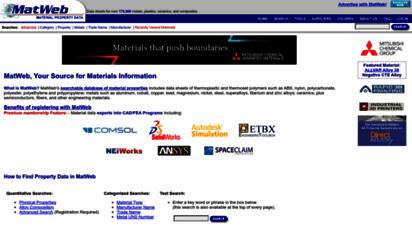 matweb.com - online materials information resource - matweb