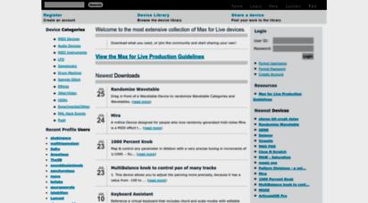 maxforlive.com - max for live community resource