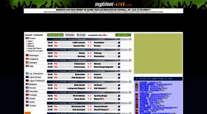 maxifoot-live.com - maxifoot-live le live-score du football pour suivre les match en direct