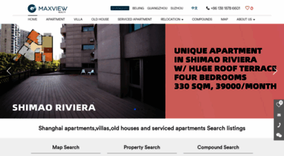 maxviewrealty.com - shanghai housing rent - apartments,old houses or villas for rent,real estate agency-maxview realty