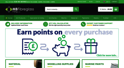 Welcome to Mbfg co uk - Fibreglass Supplies | Silicone
