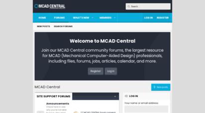 mcadcentral.com - mcad central - largest resource for mechanical cad professionals