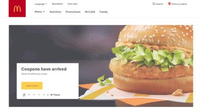 mcdonalds.ca - your favourite burgers, fries & more  mcdonald´s canada