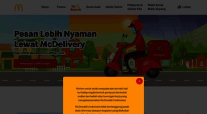 mcdonalds.co.id - home  mcdonald´s indonesia