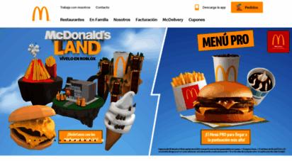 mcdonalds.com.mx - mcdonald´s - méxico