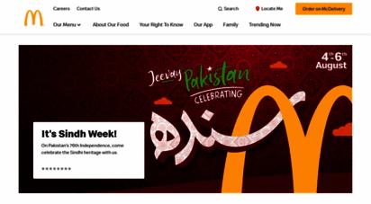 mcdonalds.com.pk - mcdonald´s