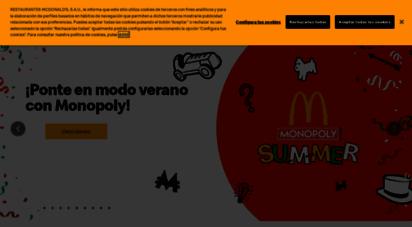 mcdonalds.es - mcdonald´s españa