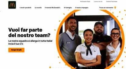 mcdonalds.it - benvenuto su mcdonald´s italia  mcdonald´s italia