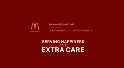 mcdonaldsindia.com - mcdonald´s
