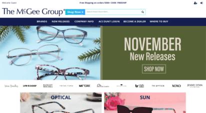 mcgeegroup.com - optical eyewear designer, manufacturer, and distributor the mcgee group