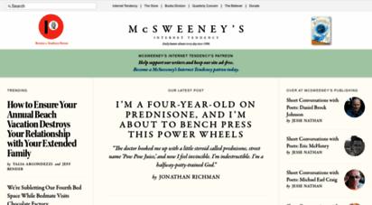 mcsweeneys.net - mcsweeney´s internet tendency