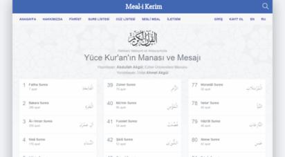 mealikerim.com - kuran meali : türkçe kuran-ı kerim meali ve anlamı - meali kerim