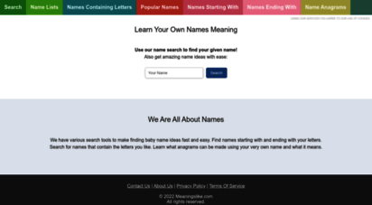 meaningslike.com - learn your own names meaning on meaningslike.com