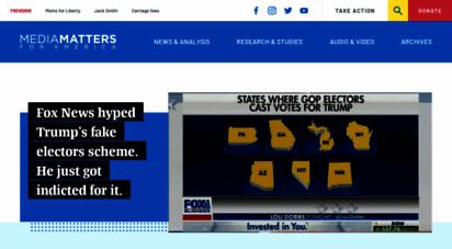mediamatters.org - homepage  media matters for america