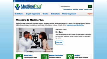 medlineplus.gov - medlineplus - health information from the national library of medicine