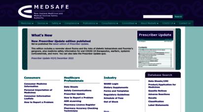 medsafe.govt.nz - medsafe home page