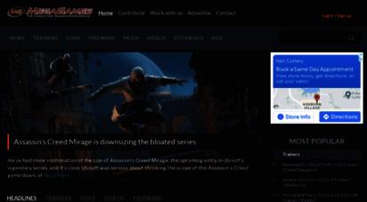megagames.com - megagames - game trainers, cheats, mods, fixes, news and videos for games