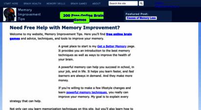 memory-improvement-tips.com - memory improvement tips - how to improve your memory