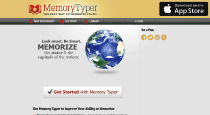 memorytyper.com - memorize - app  memory typer