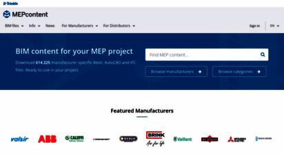 mepcontent.com - die bim-bibliothek für tga ingenieure  mepcontent