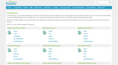 meritexam.com - entrance, competitive exams, current affairs, online tests - meritexam