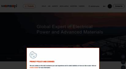 mersen.com - mersen  globale experten für elektroenergie und hochleistungswerkstoffe