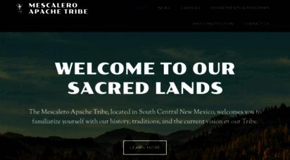 mescaleroapachetribe.com - official website of the mescalero apache tribe
