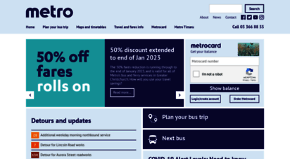 metroinfo.co.nz - pages - metro home