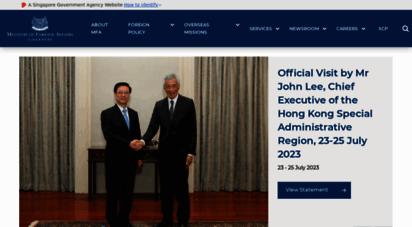 mfa.gov.sg - ministry of foreign affairs singapore - home