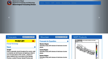 mfd.gov.np - .:: meteorological forecasting division ::.