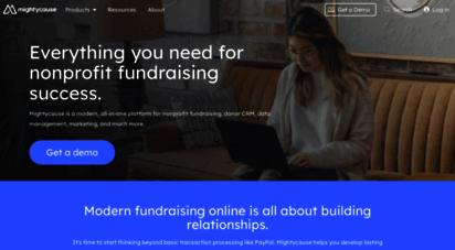 mightycause.com - mightycause: nonprofit fundraising made easy