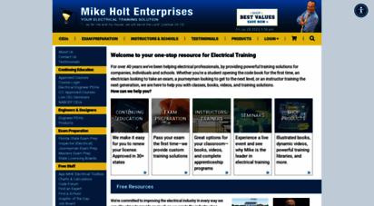 mikeholt.com - electrical training solutions mike holt enterprises