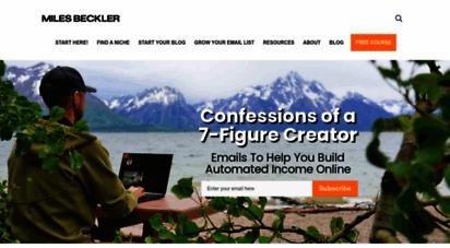 milesbeckler.com - helping entrepreneurs and digital marketers scale online businesses