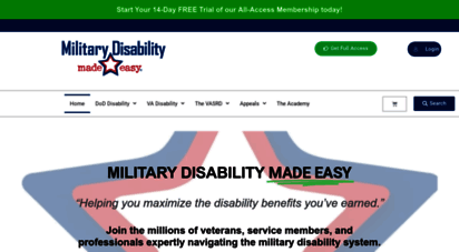 militarydisabilitymadeeasy.com - military disability  va disability  info for disabled american veterans