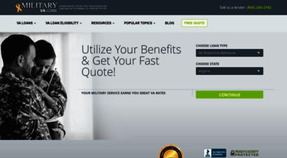 militaryvaloan.com - va streamline refinance - va mortgage rates - military va loan