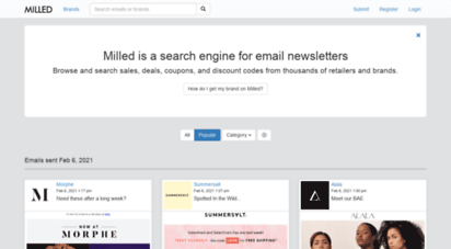 milled.com - milled: a search engine for email newsletters and ecommerce sales