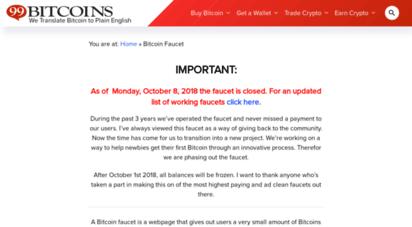 milli bitcoin faucet