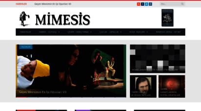 mimesis-dergi.org - anasayfa - mimesis sahne sanatları portali