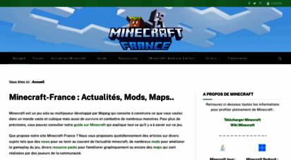minecraft-france.fr - minecraft-france : actualité, mods, maps & resource packs