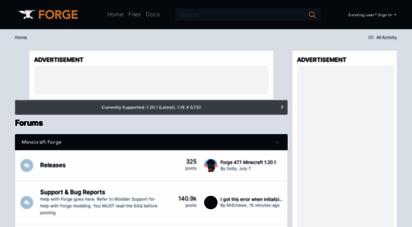 minecraftforge.net - minecraft forge forums