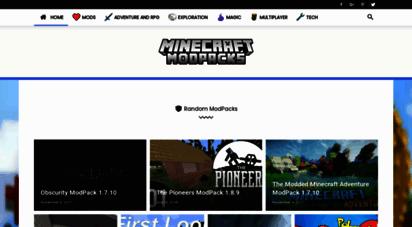 minecraftmodpacks.net - minecraft modpacks - mod packs for minecraft