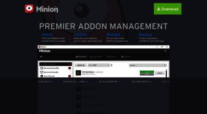 minion.gg - minion - premier addon management