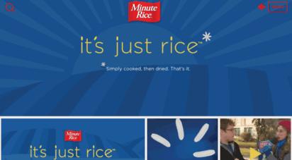 minuterice.ca - minute rice  les produits minute rice® sont conçus pour tous les goûts et tous les repas.